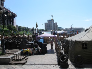 People are still camping on the Kyiv Maidan