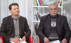 Mykhailo Volynets, left and Hryhoriy Dotsenko